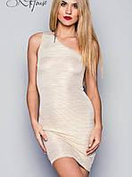 Короткое платье на одно плечо | Звездный стиль мини sk нежное золото
