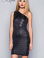 Короткое платье на одно плечо | Звездный стиль мини sk черный