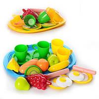 """Набор игрушечной посуды с подносом """"Завтрак"""" Орион 955 в. 2"""