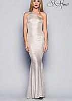 Длинное платье на одно плечо   Звездный стиль sk