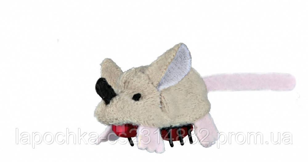 Игрушка для кошек Trixie Мышка бегающая, плюш 5,5 см