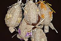 """Шитая авторская игрушка - украшение для корзины """"Яйцо в кружеве""""10 см (ручная работа), 95/85 (цена за 1шт. +10"""