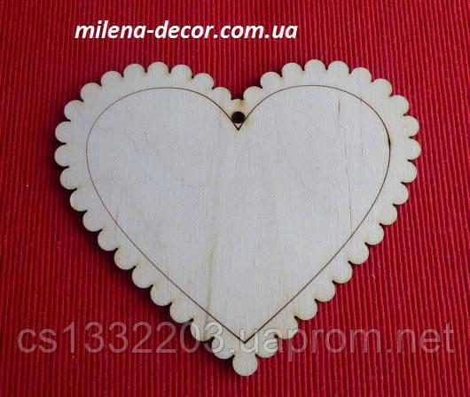 Подвеска-контурное сердце 11*10см (фанера)