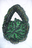 Венок щит на каркасе зеленый (60 х40см)