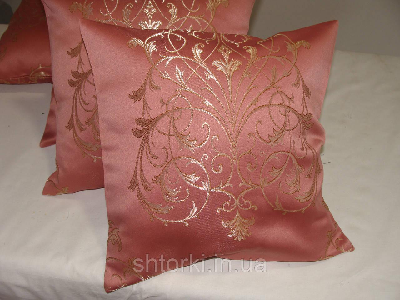 Комплект подушек корона розовая 4шт