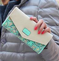 Женский стильный яркий красивый цветной кошелек клатч бумажник визитница мода тренд