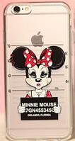 Силиконовый чехол Minnie Mouse заключенная для iphone 6/6S, фото 1