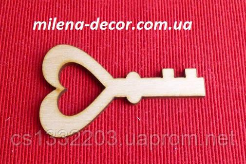 Декоративный ключик 8*5см (фанера)