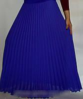 Красивая шифоновая  юбка плиссе-гофре длинная