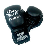 Боксерские перчатки Thai Professional BG3 Black