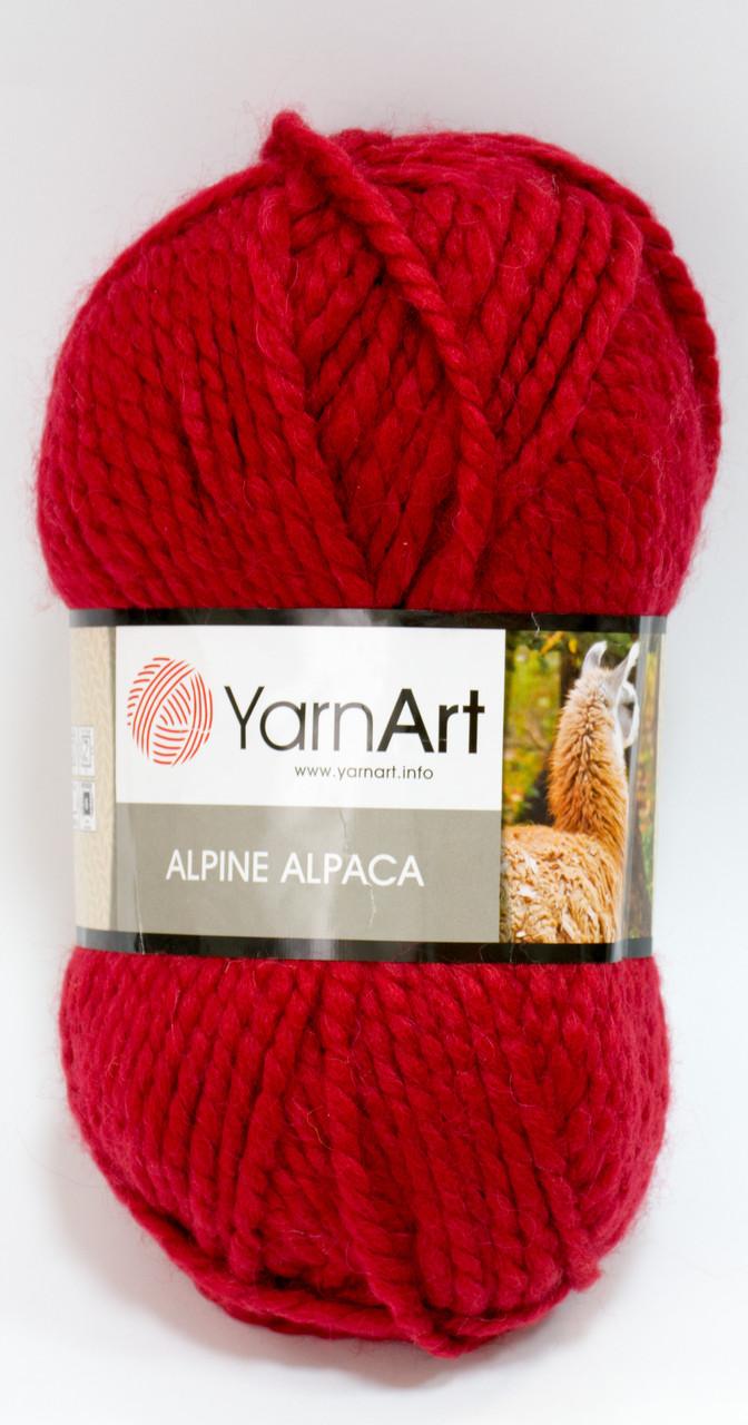 Пряжа alpine alpaca - цвет темно-красный
