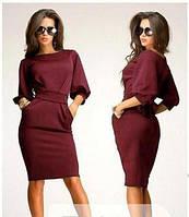 Платье женское Фонарик марсала , платья интернет магазин