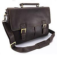 Мужской кожаный портфель Visconti 18716 oil brown