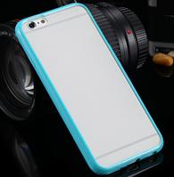 Бирюзовый пластиково-силиконовый чехол-бампер  для Iphone 6/6S, фото 1