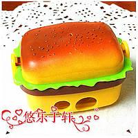 """Двойная, разборная точилка """"Гамбургер"""" с ластиками"""