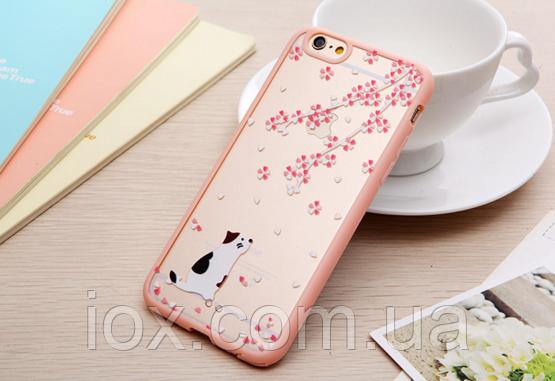 """Пластиково-силиконовый чехол-бампер """"Пятнистый кот"""" для Iphone 6/6S"""