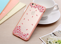"""Защитный комбинированный чехол-бампер """"Розовые цветы"""" для Iphone 6/6S, фото 1"""
