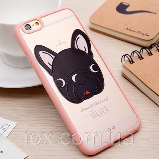 """Пластиково-силиконовый чехол-бампер """"Собака"""" (№1) для Iphone 6/6S"""