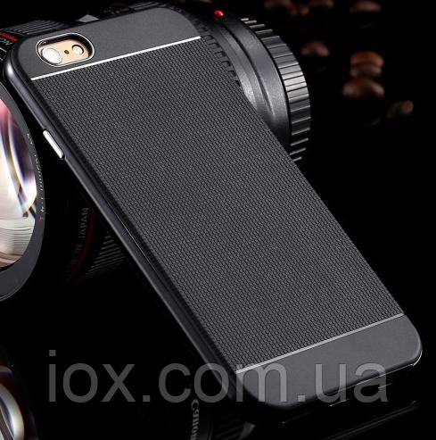Черный силиконовый чехол-бампер для Iphone 6/6S