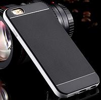 Черно-серебренный силиконовый чехол-бампер для Iphone 6/6S, фото 1
