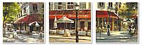 Триптих. Картина по номерам Babylon Летние кафе Триптих 50 х 150 см VPT003