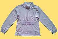 Гольф для девочки, белый, с кружевом р. 98, 104, 110, 116 см
