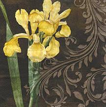 Серветка декупажна Жовтий ірис 5643