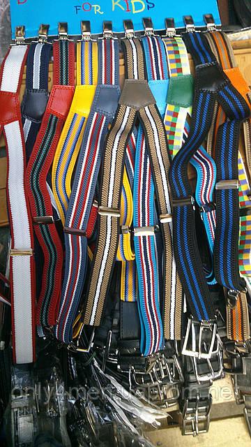 Подтяжки детские мультики для мальчиков и девочек (разные цвета в палете) на опт