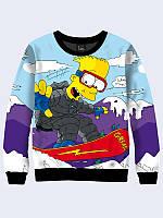 Свитшот Барт на сноуборде