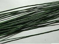 Проволока для цветов зеленая №22 25шт.(код 01097)