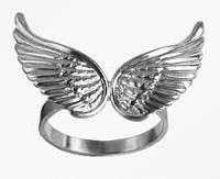 Кольцо  женское серебряное Крылья F 400 270