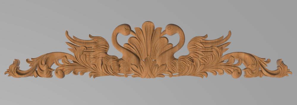 Код ДГ22.Деревянный резной декор для мебели. Декор горизонтальный