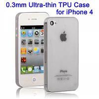 Чехол Ultrathin TPU 0.3mm case для Apple iPhone 4G / 4GS Black