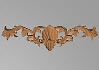 Код ДГ26.Деревянный резной декор для мебели. Декор горизонтальный