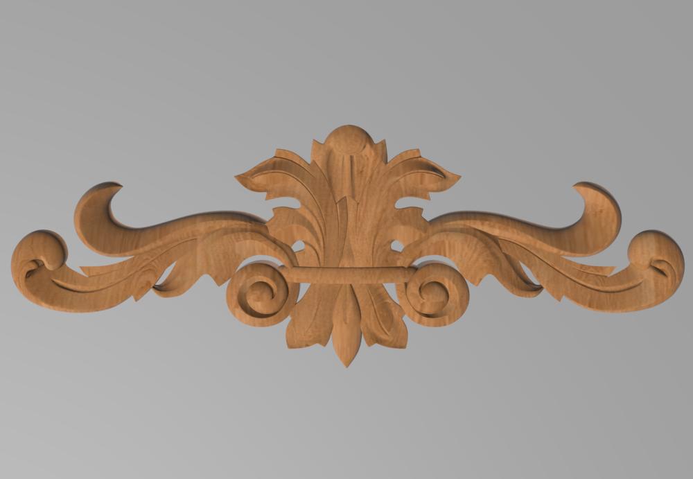 Код ДГ 27.Деревянный резной декор для мебели. Декор горизонтальный