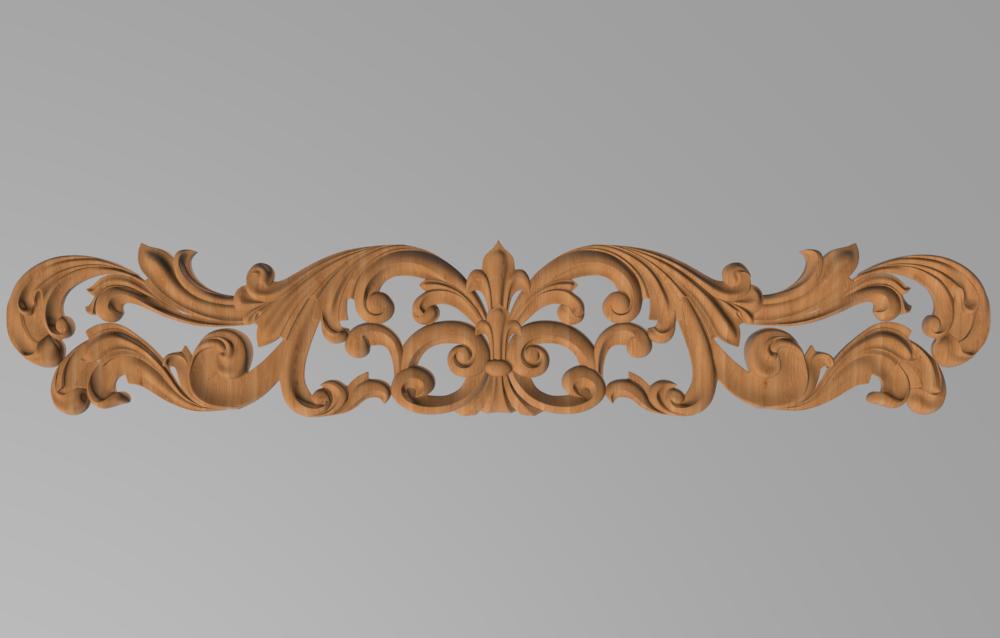 Код ДГ 28.Деревянный резной декор для мебели. Декор горизонтальный