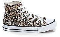 Модные леопардовые кеды