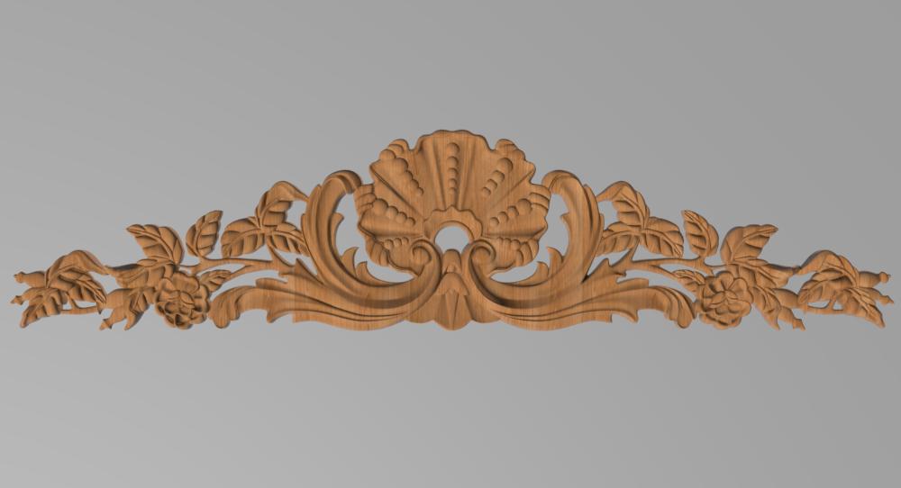 Код ДГ 29.Деревянный резной декор для мебели. Декор горизонтальный