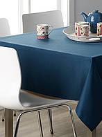 Скатерть для стола 140х140см, однотонная Синий