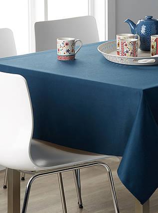 Скатерть для стола 190х140см, однотонная Синий, фото 2