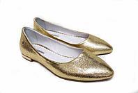 Туфли Т-413 натуральная кожа золото