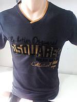 Мужская черная приталенная футболка