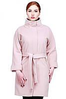Молодежное пальто в пастельном цвете