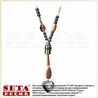 """Подвеска (ожерелье, колье) """"Сердце"""" на длинном замшевом шнурке розовое"""