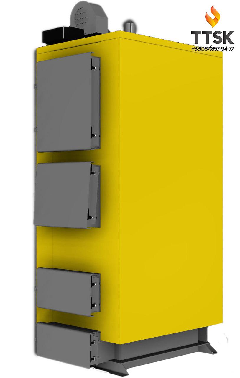 Стальной твердотопливный котёл KRONAS UNIC мощностью 98 кВт