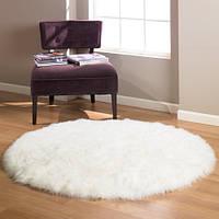 Меховые ковры, ковры из овчины, круглый ковер из овечьих шкур, фото 1