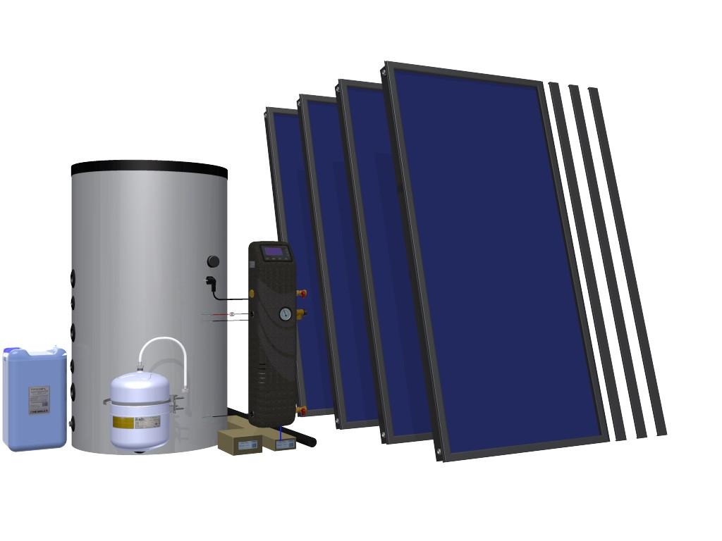 Сонячний комплект HEWALEX 4 TELPAm-INTEGRA 400 Для підігріву води для 3-8 осіб + як доповнення до ЦО!