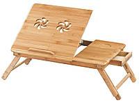 Столик - подставка для ноутбука деревянный (вентиляция)
