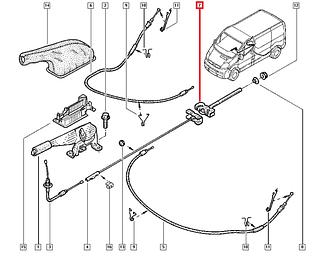 Кронштейн стояночного тормоза