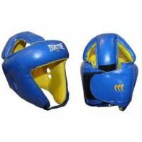 Шлем боксерский открытый с усиленной защитой макушки Кожа MATSA MA-4002-M(B)